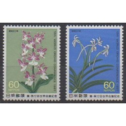 Japon - 1987 - No 1623/1624 - Orchidées