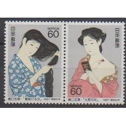 Japon - 1987 - No 1630/1631 - Peinture