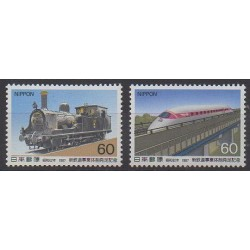 Japon - 1987 - No 1627/1628 - Chemins de fer