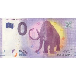 Euro banknote memory - 24 - Le Thot - Mammouth laineux - 2017-1 - No 2013