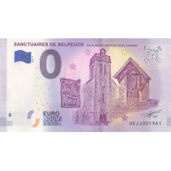 Euro banknote memory - 19 - Sanctuaires de Belpeuch - 2018-4 - Nb 1961