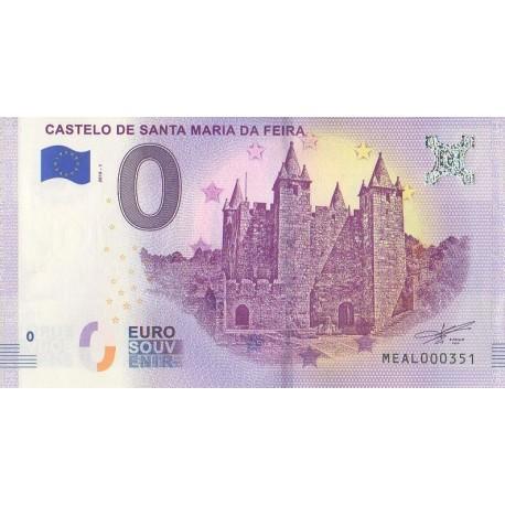 Billet souvenir - Castelo de Santa Maria da Feira - 2018-1 - No 351