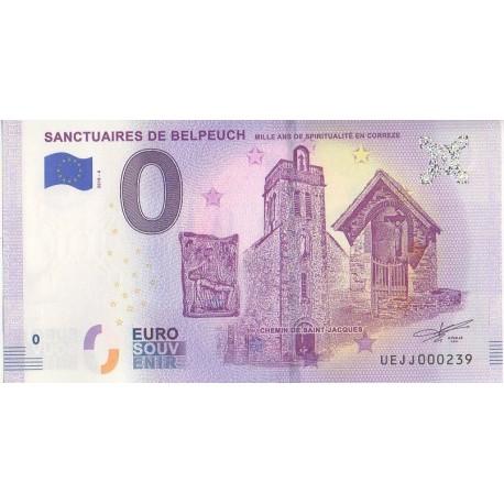 Billet souvenir - Sanctuaires de Belpeuch - 2018-4 - No 239