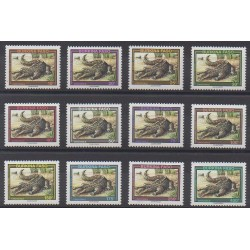 Burkina Faso - 1995 - Nb 905/916 - Reptils