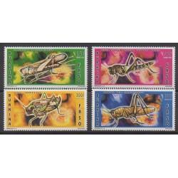 Burkina Faso - 1996 - No 979/982 - Insectes