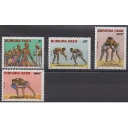 Burkina Faso - 2008 - Nb 1339/1342 - Various sports