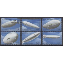 Burkina Faso - 2000 - No 1217A/1217F - Ballons - Dirigeables