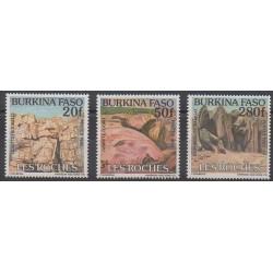 Burkina Faso - 1991 - No 830/832 - Minéraux - Pierres précieuses