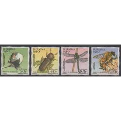 Burkina Faso - 1992 - No 857/860 - Insectes
