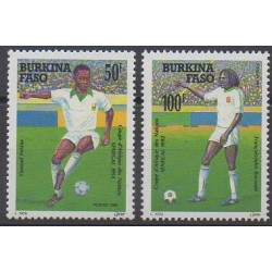 Burkina Faso - 1992 - No 847/848 - Football