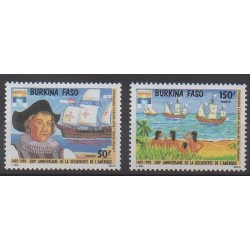 Burkina Faso - 1992 - No 855/856 - Christophe Colomb