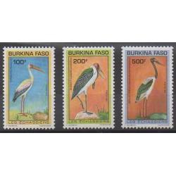 Burkina Faso - 1993 - No 868/870 - Oiseaux