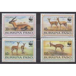 Burkina Faso - 1993 - No 882/885 - Mammifères - Espèces menacées - WWF