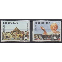 Burkina Faso - 1990 - Nb 815/816 - Pope