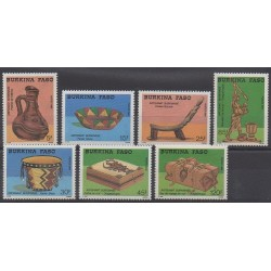 Burkina Faso - 1988 - Nb 781/787 - Craft