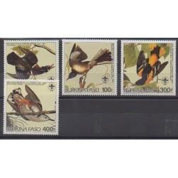 Burkina Faso - 1985 - No 649/652 - Oiseaux