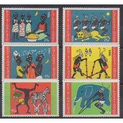 Burkina Faso - 1985 - No 670/675 - Masques ou carnaval