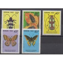 Burkina Faso - 1986 - No 700/704 - Insectes