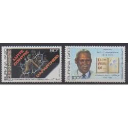 Burkina Faso - 1987 - No 750/751 - Droits de l'Homme