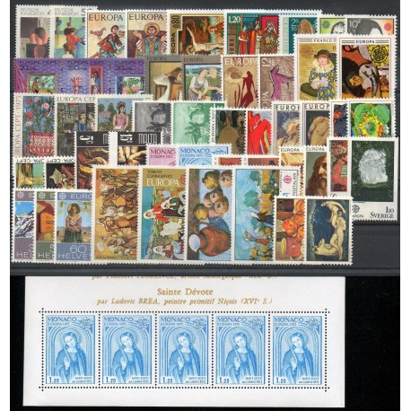 Europa - 1975 - 50 valeurs - 1 BF - 24 pays - Painting