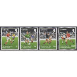 Gibraltar - 1998 - Nb 823/826 - Soccer World Cup
