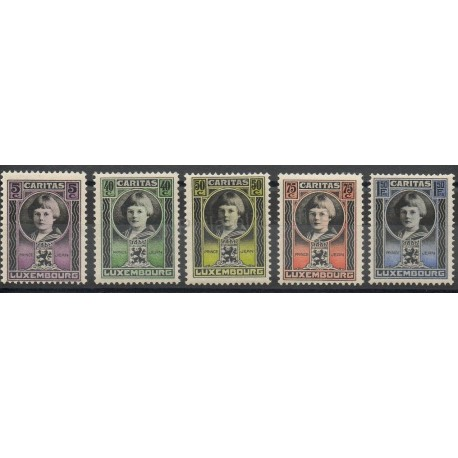 Luxembourg - 1926 - No 182/186
