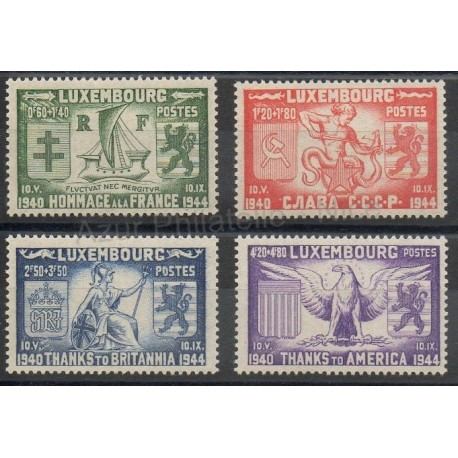 Luxembourg - 1945- No 356/359 - Seconde Guerre mondiale