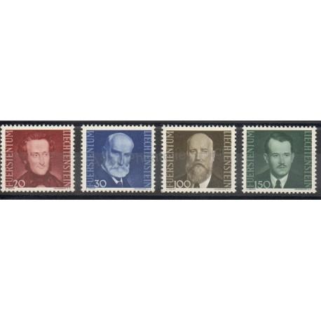 Stamps - Liechtenstein - 1943 - Nb 189/192
