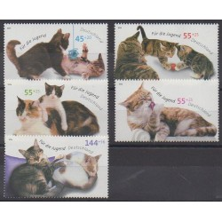 Allemagne - 2004 - No 2226/2230 - Chats
