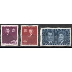 Liechtenstein - 1943 - No 186/188 - Royauté