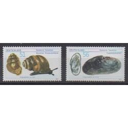 Allemagne - 2002 - No 2093/2094 - Animaux marins - Espèces menacées - WWF