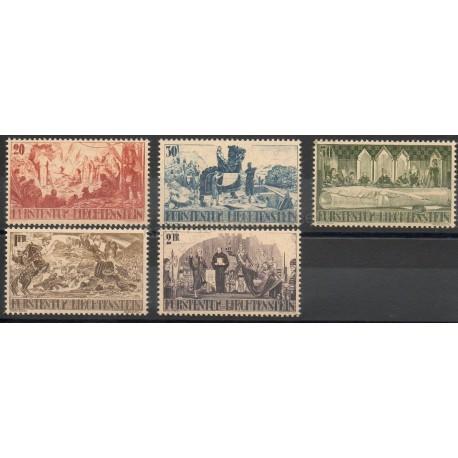 Liechtenstein - 1942- No 177/181 - Histoire