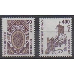 Allemagne - 2001 - No 2042/2043 - Châteaux