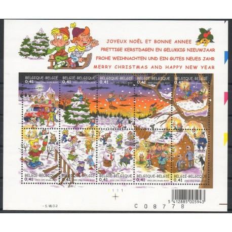 Timbres - Thème Noël - Belgique - 2002 - No 3092/3101