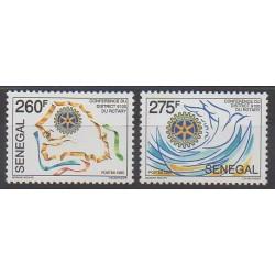 Sénégal - 1995 - No 1122/1123 - Rotary ou Lions club