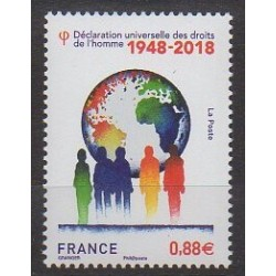 France - Poste - 2018 - Nb 5290 - Human Rights