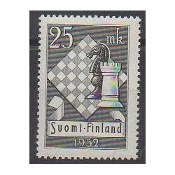 Finlande - 1952 - No 395 - Échecs