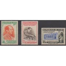 Cuba - 1951 - No 347/349 - Échecs