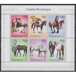 Guinée-Bissau - 2010 - No 3529/3534 - Chevaux