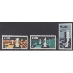 Malte - 1980 - No 609/611 - Échecs