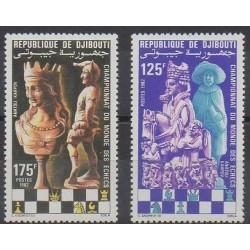 Djibouti - 1982 - No 551/552 - Échecs