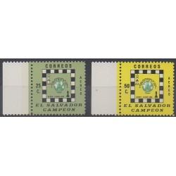 Salvador - 1977 - Nb PA385/PA386 - Chess