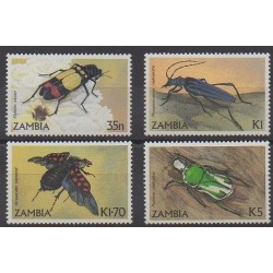 Zambie - 1986 - No 340/343 - Insectes