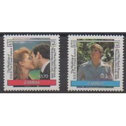 Zambie - 1986 - No 353/354 - Royauté - Principauté