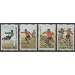 Zambia - 1986 - Nb 356/359 - Soccer World Cup