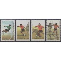 Zambie - 1986 - No 356/359 - Coupe du monde de football