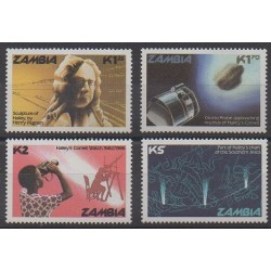 Zambia - 1986 - Nb 349/352 - Astronomy