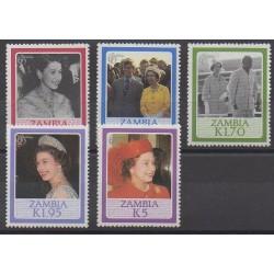 Zambie - 1986 - No 344/348 - Royauté - Principauté