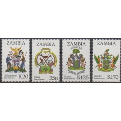 Zambia - 1987 - Nb 372/375 - Coats of arms