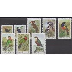 Zambie - 1987 - No 376/383 - Oiseaux